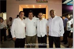 Lic. Rubén Peñaloza, Profr. Joaquín Puón, Lic. Elías Altuzar, Dr. Gustavo Cueto.