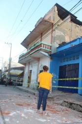 En Av. Rayon y Calle Madero se registro una victima al acerle el techo encima.