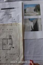 Plano y casas supuestamente construids en Huixtla.