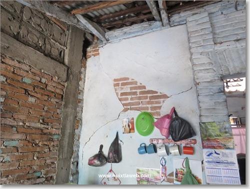 Casas dañadas por Sismo del 7 de julio de 2014 no son atendidas en Huixtla.