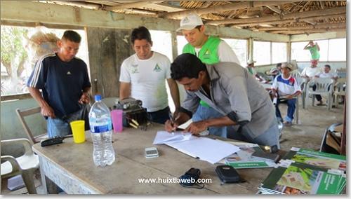 Protección civil  trabaja en materia de prevención de riesgos en comunidades de Huixtla