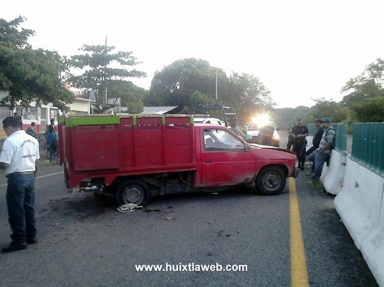 18 heridos y dos muertos  el saldo de accidente vehicular en carretera Huixtla – Tapachula