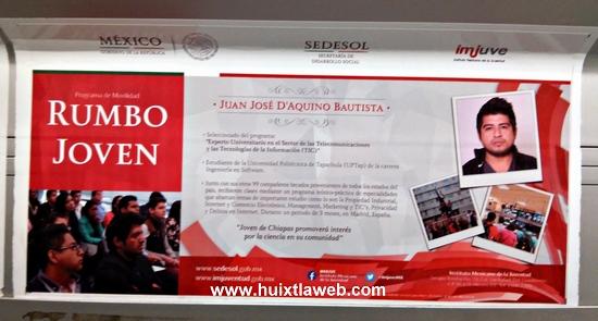 Nuevamente destaca joven Huixtleco a nivel nacional