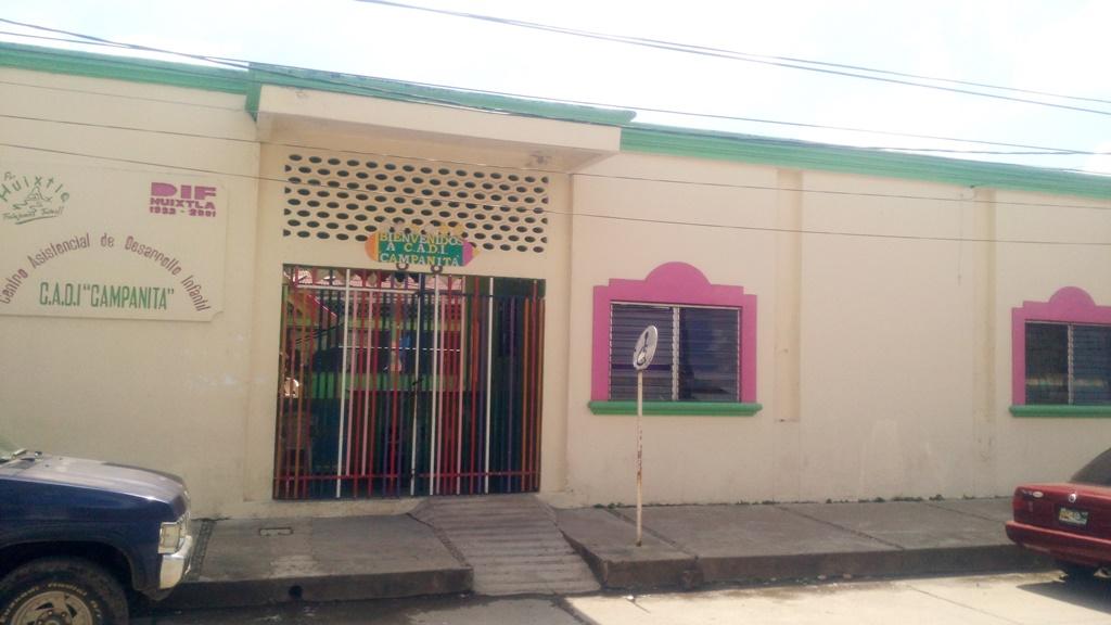 Dañados por el sismo mercado y guardería municipal en Huixtla