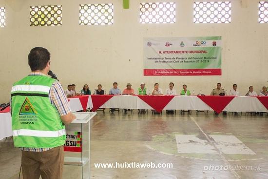 Instala ayuntamiento de Tuzantán consejo municipal de protección civil