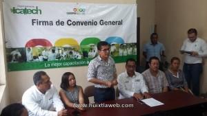 Firman Convenio de Colaboración ICATECH y Ayuntamiento de  Huehuetán (2)