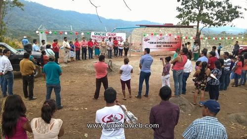 Inaugura Navarrete Meza tanque de regularización en la colonia Los Laureles