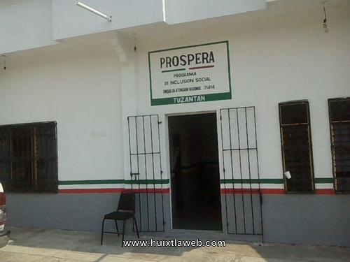 Oficinas regionales de prospera en Tuzantán