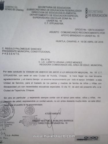 Sector educativo agradece gestión y apoyo de edil Régulo Palomeque Sánchez