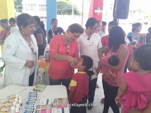 Autoridades de Huixtla y del sector salud inician 2da Semana Nacional de Salud