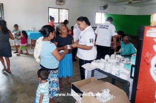 Realizan Feria de Salud en la Colonia Vicente Guerrero de Villa Comaltitlán