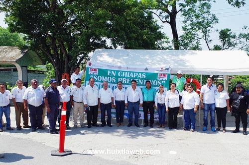 Banderazo de inicio del plan específico vacaciones seguras de semana santa 2017 en Comaltitlán