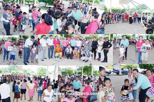 Celebran en grande a niños y niñas de Comaltitlán