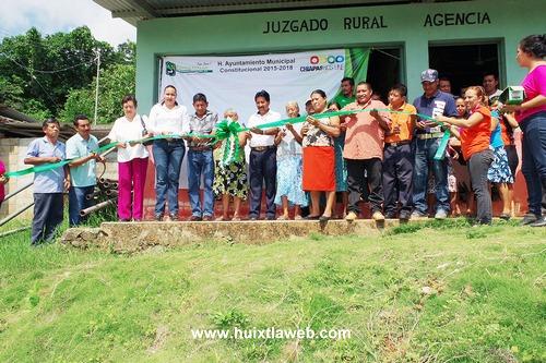 Inauguran rehabilitación de agua potable en el cantón 5 de marzo de Villa Comaltitlán