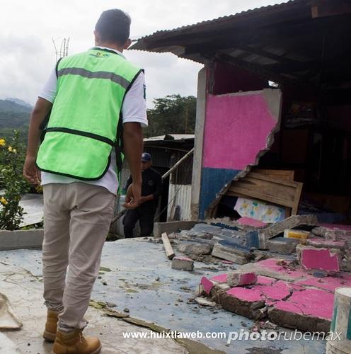 Concluye Protección civil de Tuzantán recuento de daños por sismo