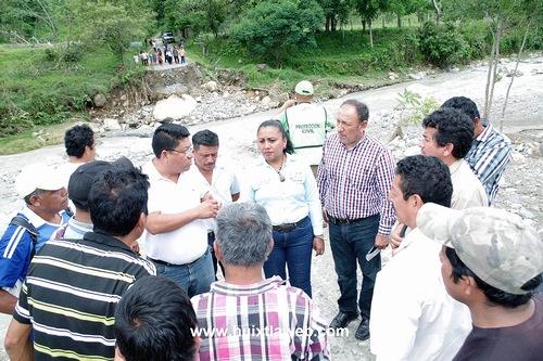 Realizan recorrido en la zona alta los Presidentes Municipales de Villa Comaltitlán y Escuintla