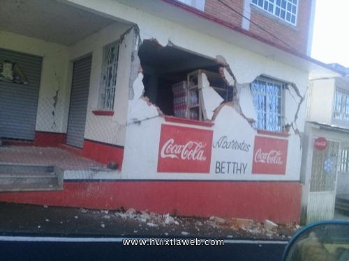 En Unión Juárez 4 casas sufrieron daños materiales