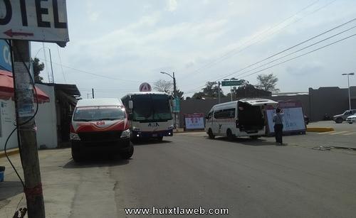 Transportistas hacen otra terminal en Huixtla