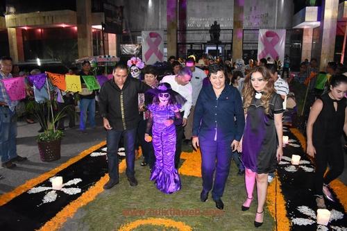 Un éxito concurso de día de muertos organizado por el congreso del estado de Chiapas.