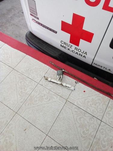 Por segunda Ocasión entran a robar a la Cruz Roja de Huixtla