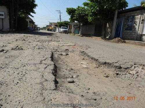 Destruidas las calles de estación Huehuetán