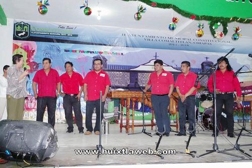 Exitosa presentación de las marimbas de Tuzantán y Villa Comaltitlán en las festividades a Santa Lucia 2017