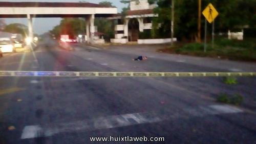 Muere atropellada mujer huixtleca en la costera