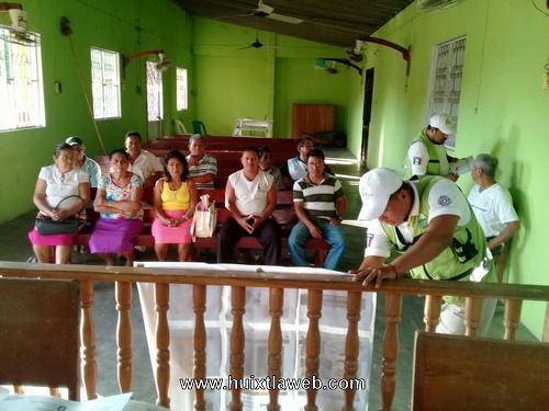 Imparte PC de Tuzantán Curso básico sobre incendio a comités comunitarios