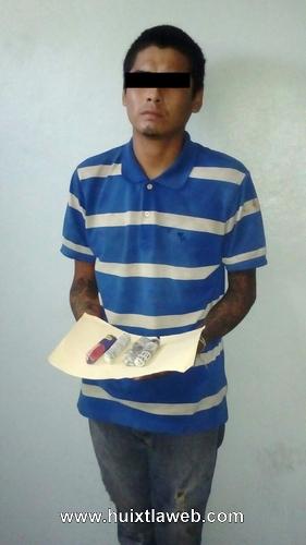 Tuzanteco detenido con marihuana en Huixtla