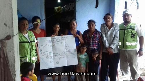 Aplican plan comunitario de temporada de estiaje en Tuzantán