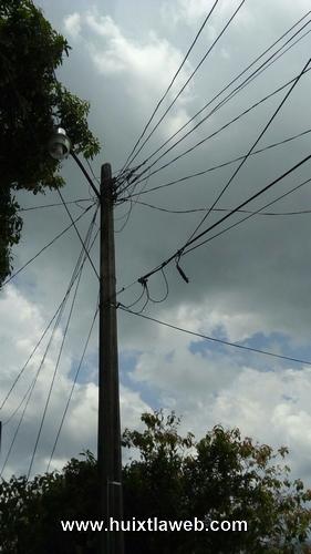 Rayo quema sistema eléctrico en Motozintla