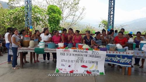 Feria de la alimentación Saludable en ejido El retiro de Tuzantán