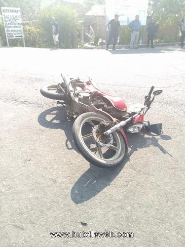 Atropellan a motociclista Huixtleco