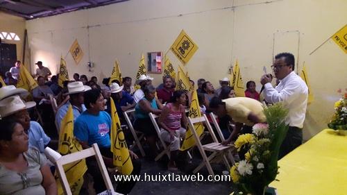 """Inicia precampaña del """"Conta Chino"""" aspirante por el PRD a la presidencia municipal de Huehuetán"""