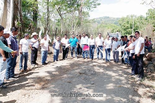 Banderazo de inicio de obra en el Cantón Unión Hermosillo