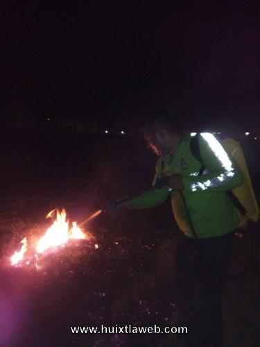 Se incendia más de cinco hectáreas de pastizales en Huixtla