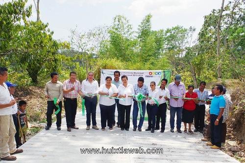 Inauguración de obra en el Ejido Providencia