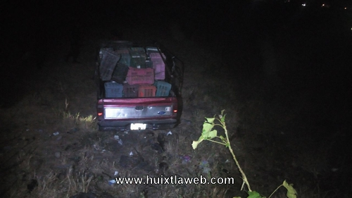 Se accidente vehículo en la carretera Huixtla al Ingenio
