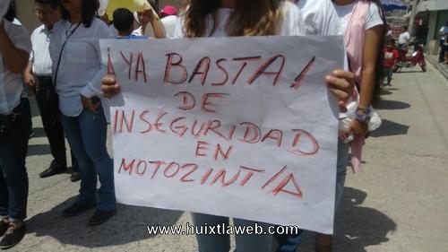 Protestan por ola delictiva en Motozintla