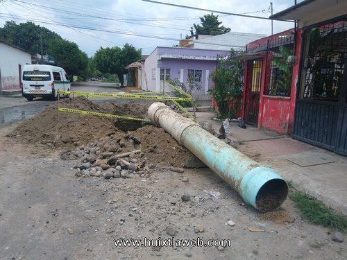 Sin agua colonias de Tapachula por tubería que se colapsó