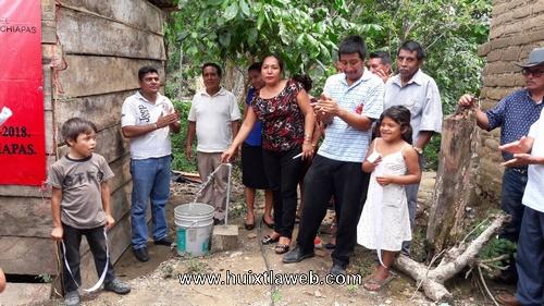 Inauguran sistema de agua entubada en ranchería rio negro de Tuzantán