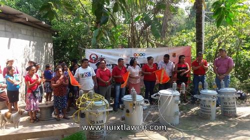 Ampliación de red de energía eléctrica en Cuarto Cantón Amatal en Tuzantán