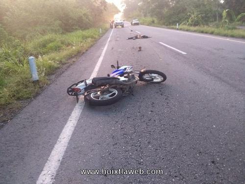 Trágica muerte de motociclista al ser arrollado en Escuintla-Mapastepec
