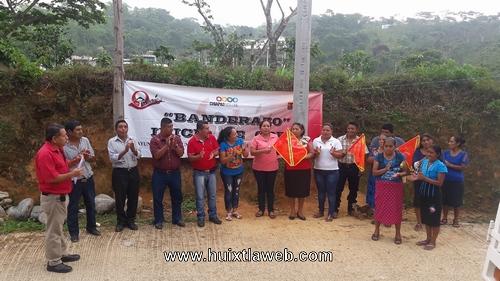 Inician ampliación de red de energía eléctrica ejido San Cristóbal en Tuzantán