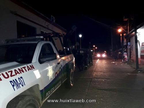 Incrementan medidas de seguridad en Tuzantán