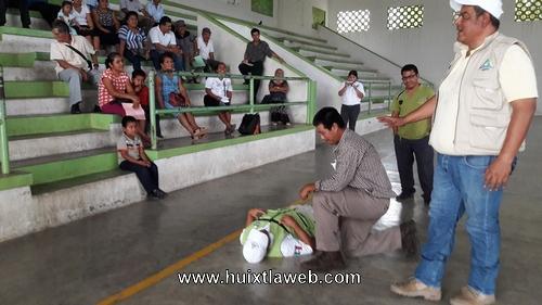 Comités de Protección civil en Tuzantán reciben capacitación