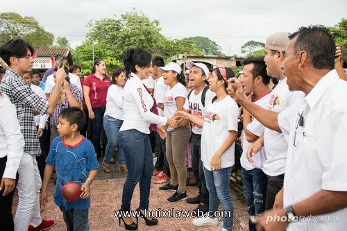 Intensa actividad de Olvita Palomeque Pineda por Tapachula y Tuzantán