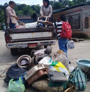Campaña permanente de Descacharrización en Comunidades y Cabecera de Tuzantán