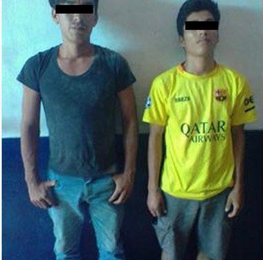 Dos detenidos con marihuana y pistola de juguete en Huixtla
