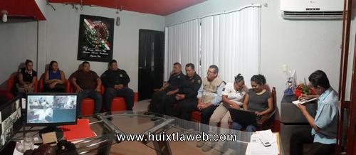 Implementan medidas de seguridad durante jornada electoral en tuzantán